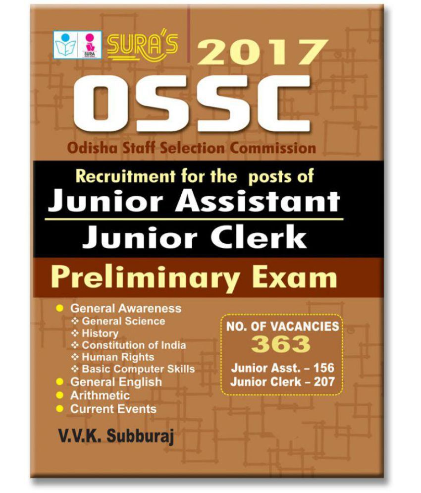 551df81c Odisha Staff Selection Commission (OSSC) Junior Assistant & Junior Clerk  Exam Books: Buy Odisha Staff Selection Commission (OSSC) Junior Assistant &  Junior ...