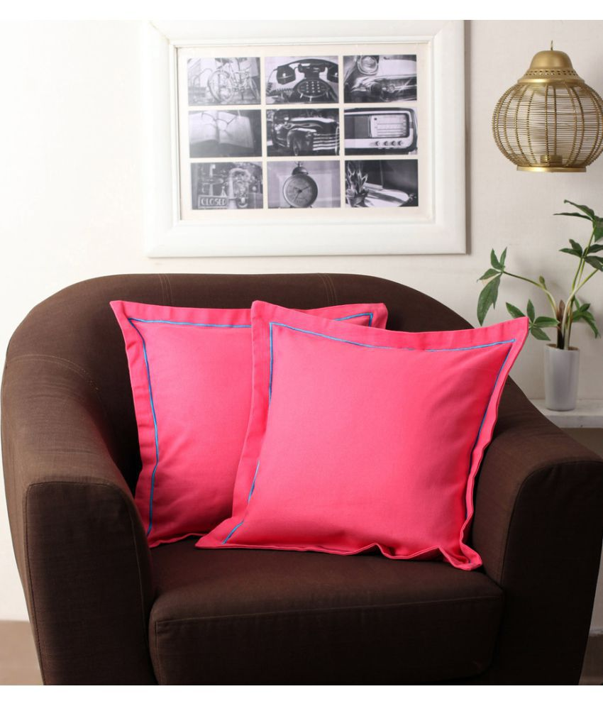 First Row Set of 2 Cotton Cushion Covers