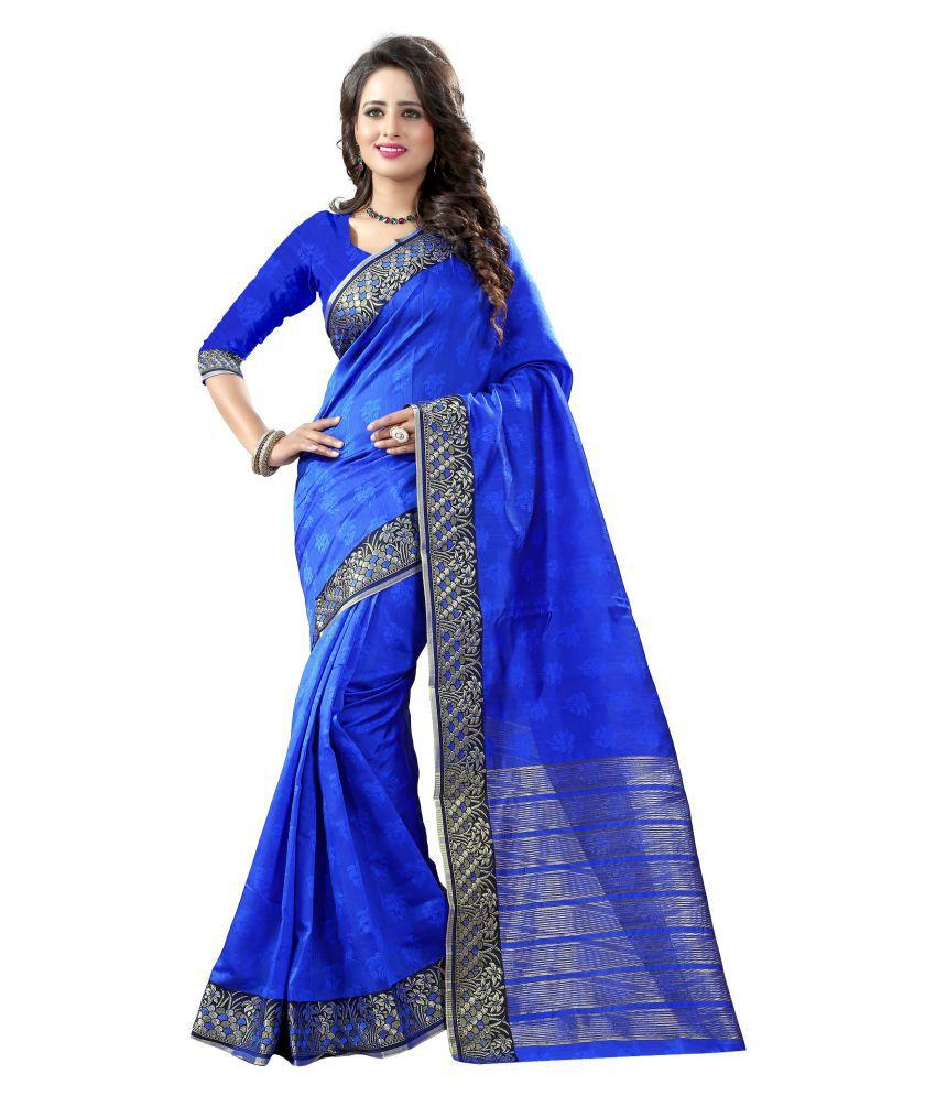 Fashion Forever Blue Art Silk Saree