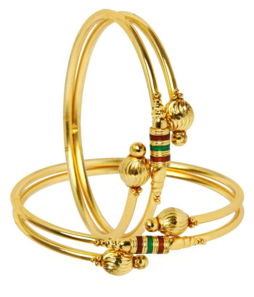 Zeneme Golden Alloy Bangle Sets