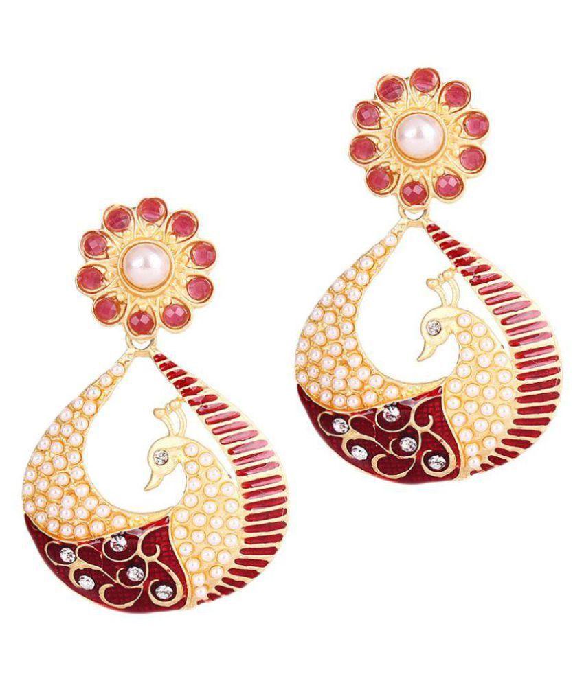 Jewels Capital Multicolour Hanging Earrings