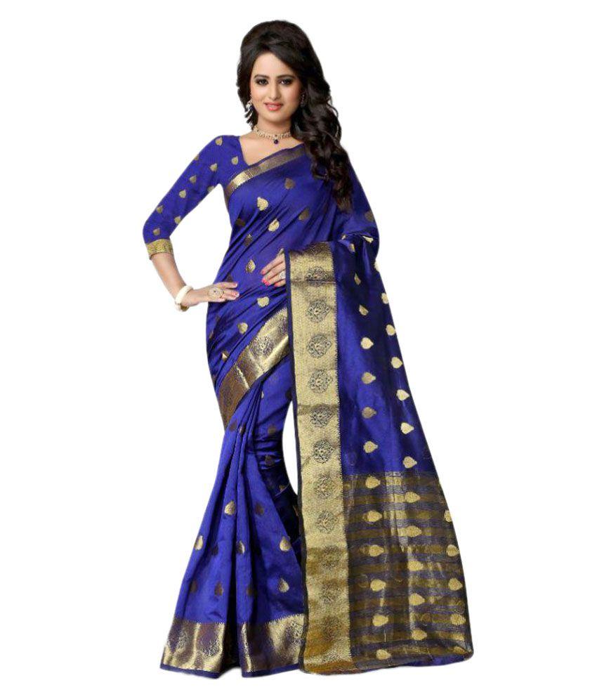 Shopaholic Enterprise Blue Silk Saree