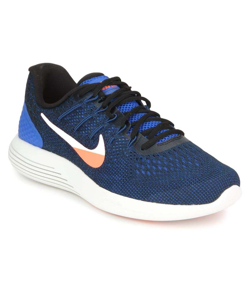 info for 2a67b a0451 Nike LUNARGLIDE 8 Blue Running Shoes - Buy Nike LUNARGLIDE 8 Blue Running  Shoes Online at Best Prices in India on Snapdeal