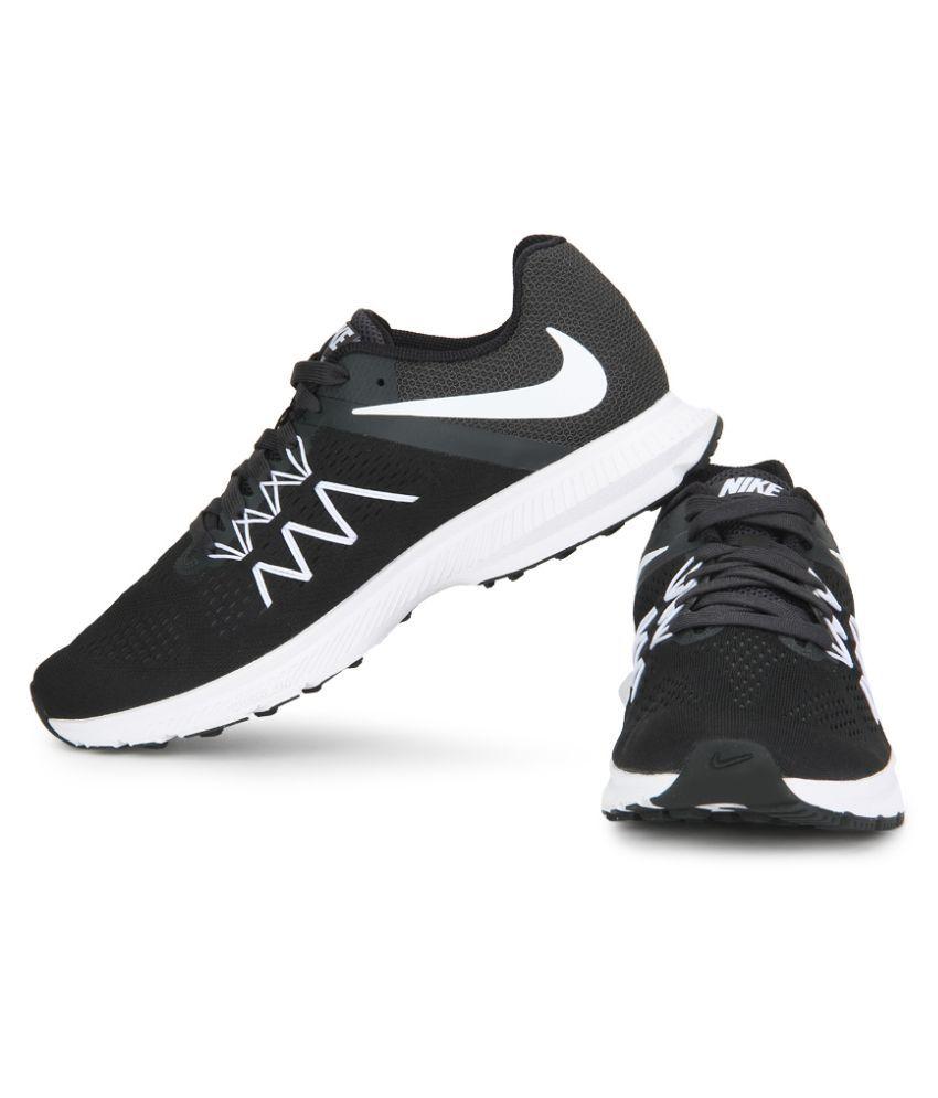Nike Zoom Winflo 3 Black Running Shoes - Buy Nike Zoom Winflo 3 ... 6c0137d13e61