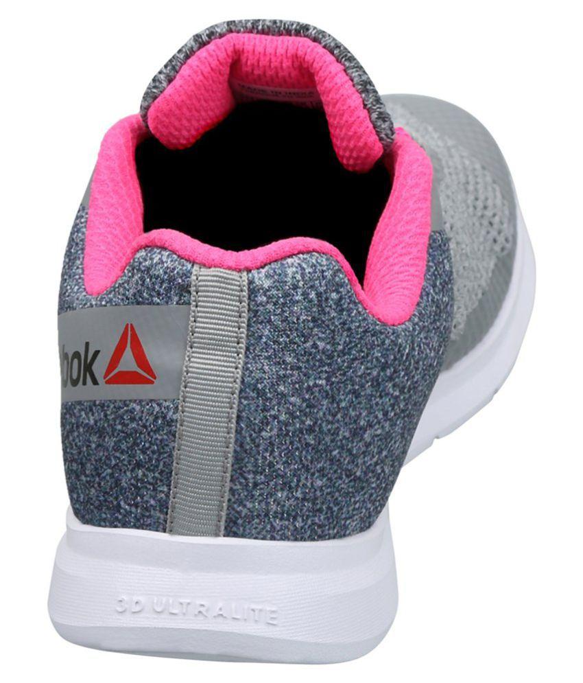 Reebok Cardio Workout Gray Training Shoes