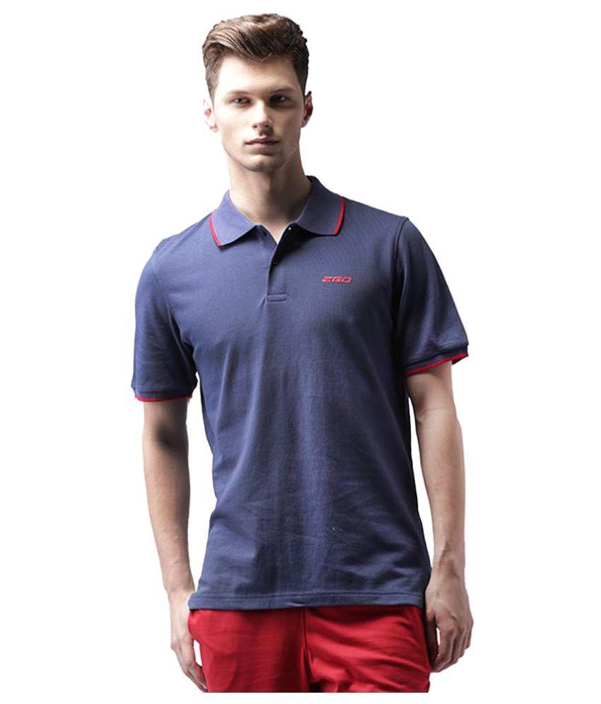 2GO Navy Cotton Polo T-shirt