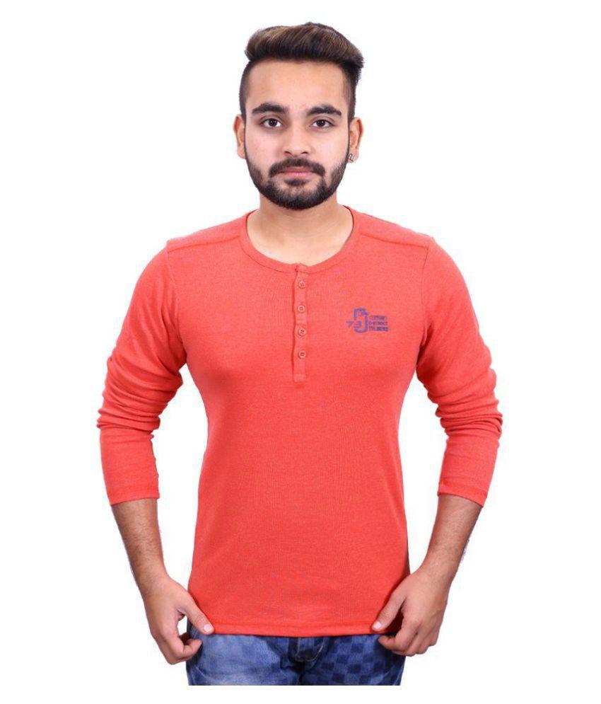 John Berg Orange Round T-Shirt
