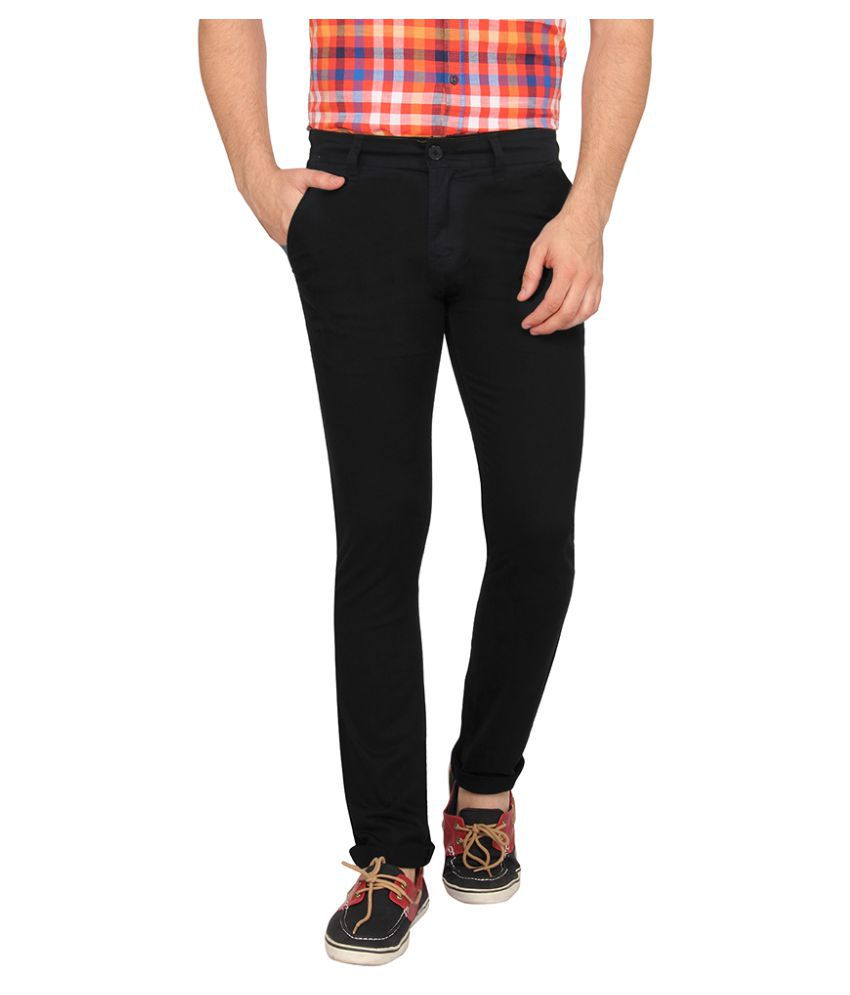 Pepe Jeans Black Slim Flat Chinos