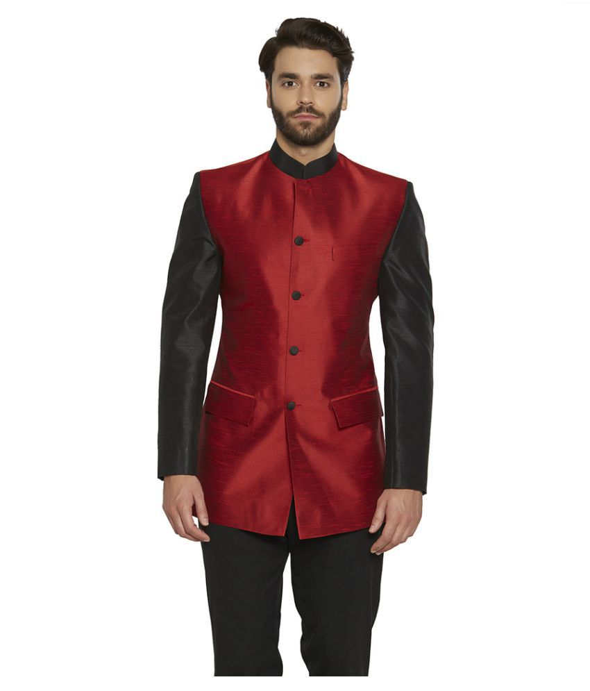 Irin Red Solid festive Jackets