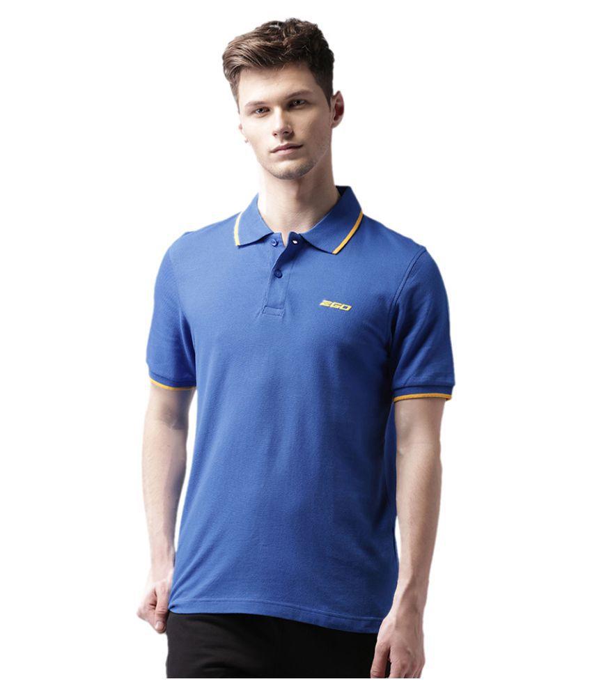2Go Blue Cotton Polo T-shirt
