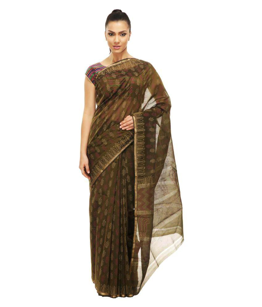 ce1750bc3160e7 Ujjain Gold Chanderi Saree - Buy Ujjain Gold Chanderi Saree Online at Low  Price - Snapdeal.com