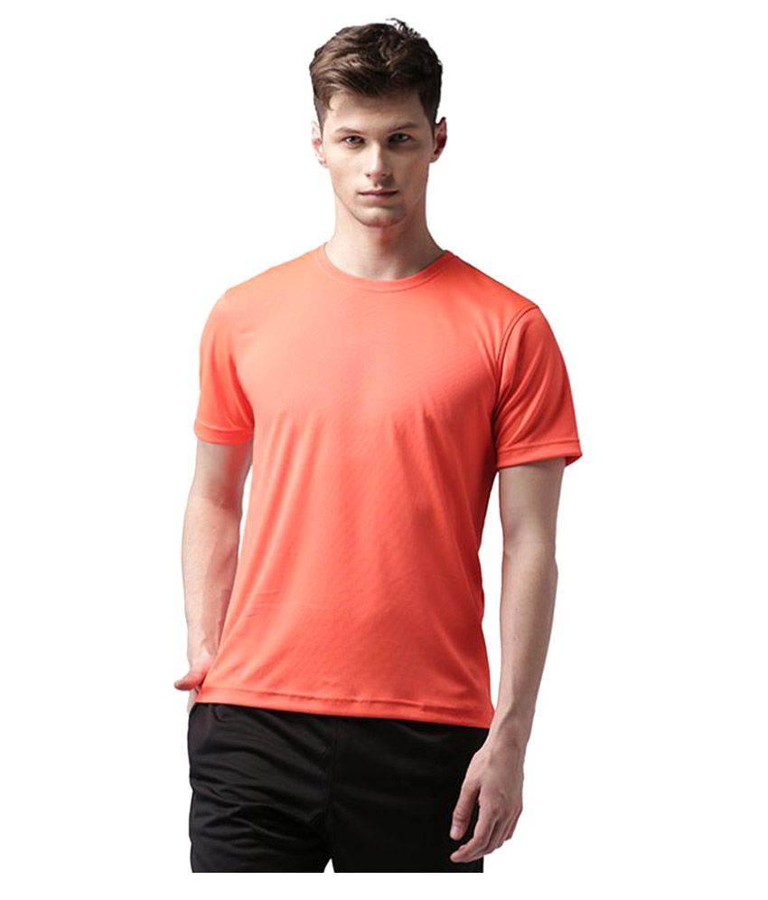 2GO Orange Polyester T Shirt