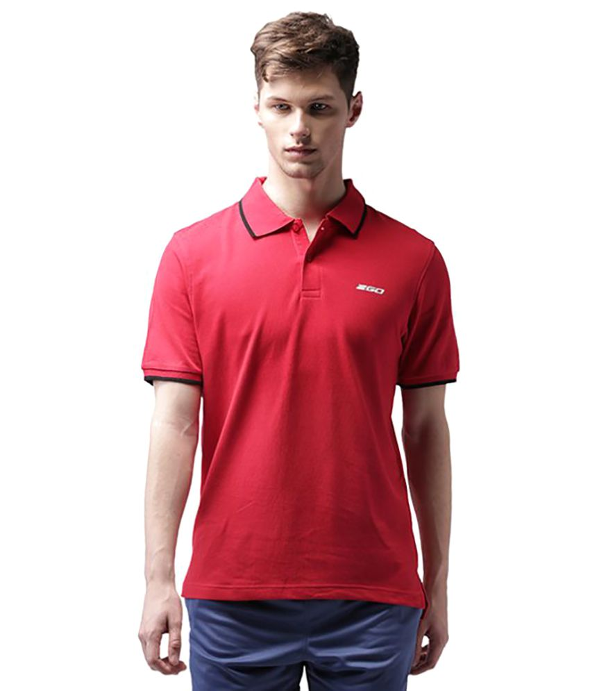 2GO Red Cotton Polo T-shirt