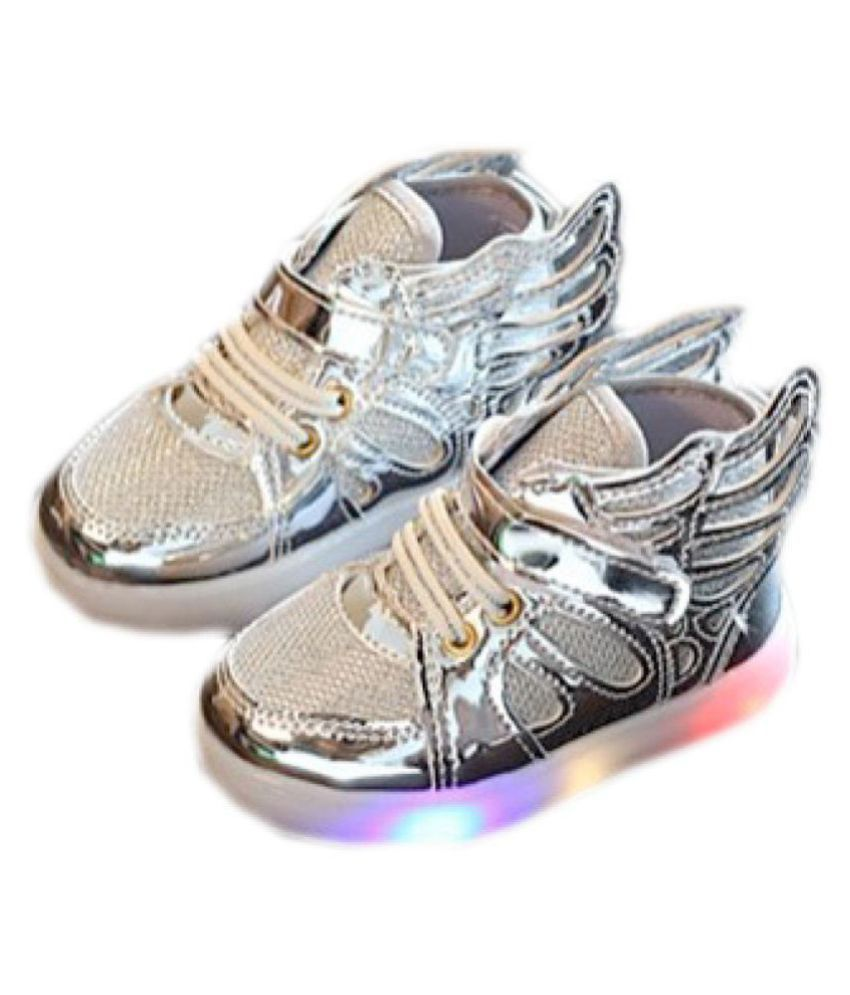 Kidslounge Led Light Silver Wings Shoes Price in India- Buy Kidslounge Led  Light Silver Wings Shoes Online at Snapdeal af2e01a82579