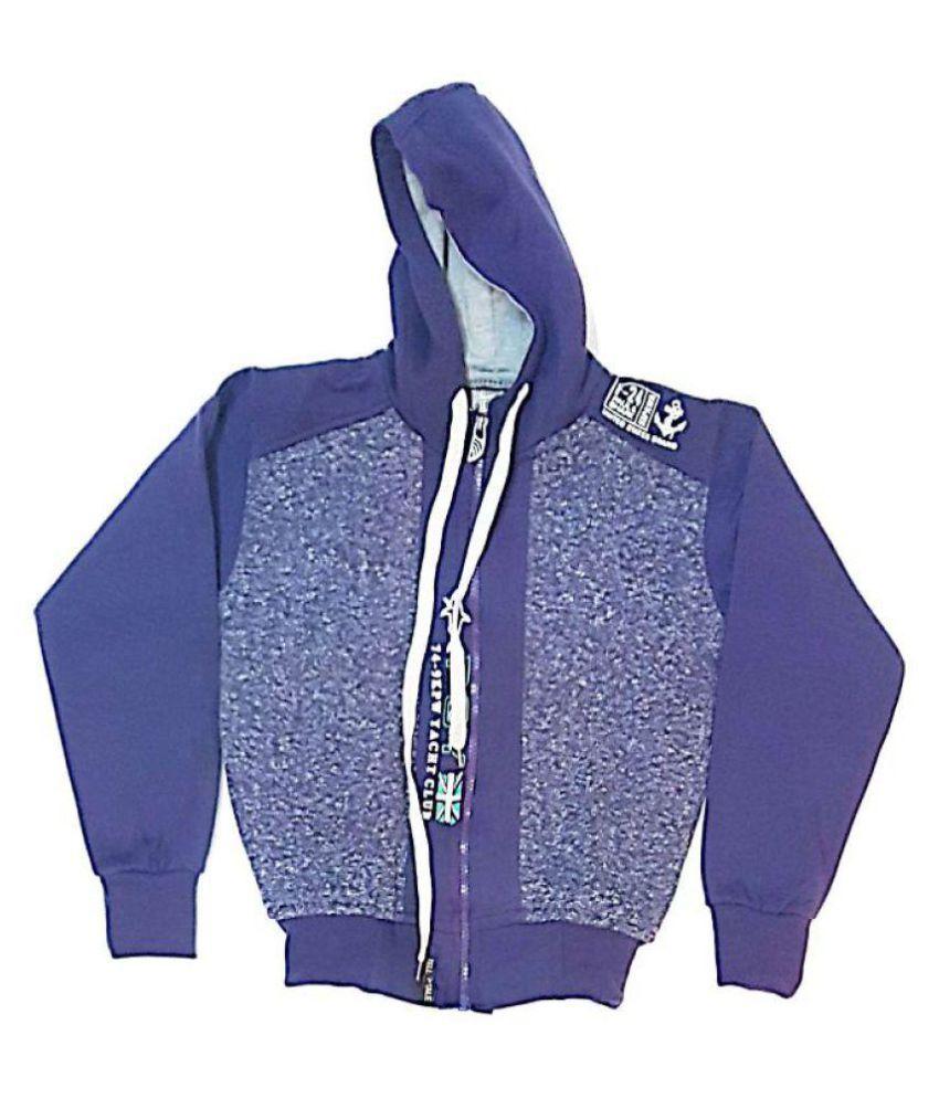 Cuddlezz Purple Fleece Sweatshirt