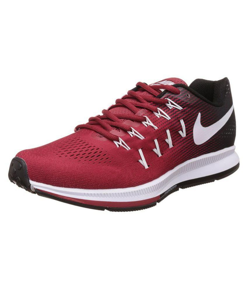 Nike Pegasus 33 Red Running Shoes ...