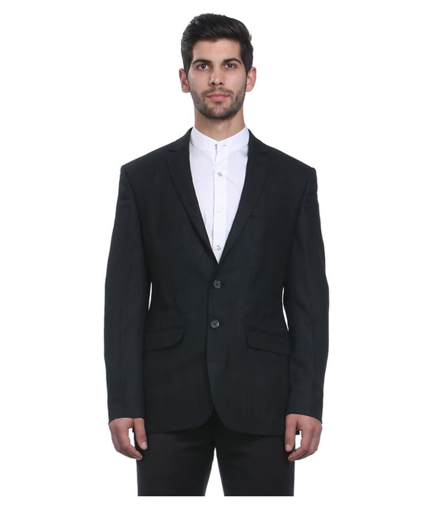 Park Avenue Black Solid Formal Blazers