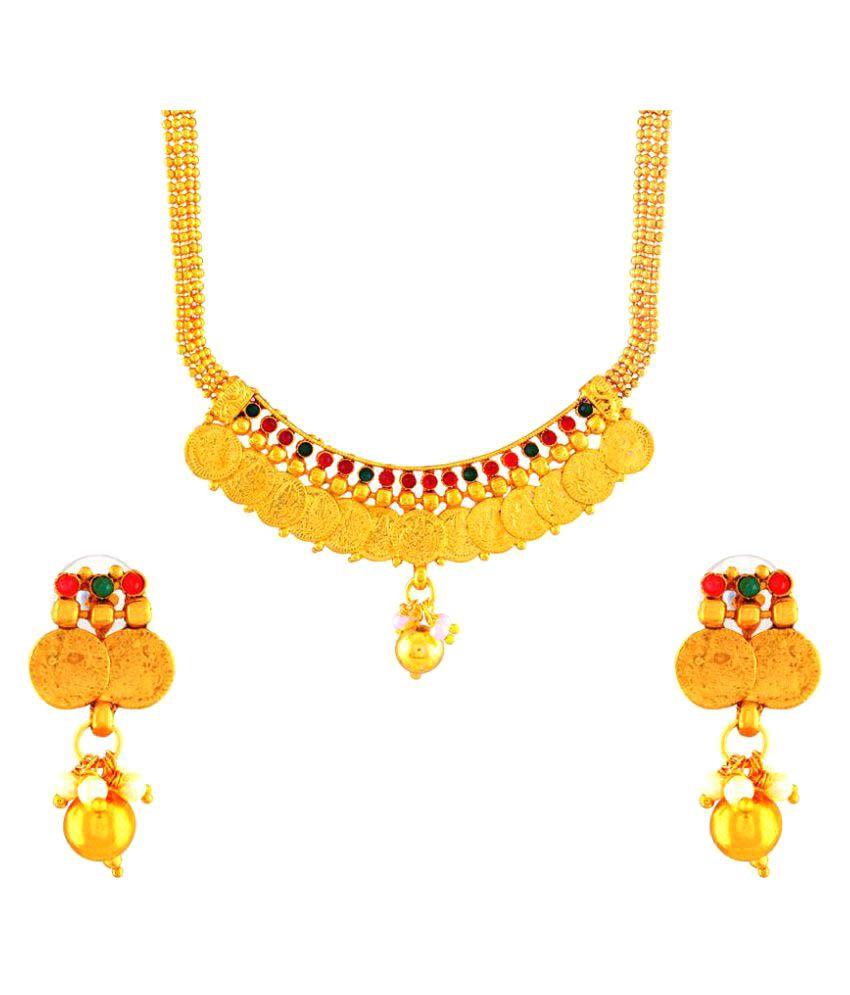 Kashvi Golden Necklace Set