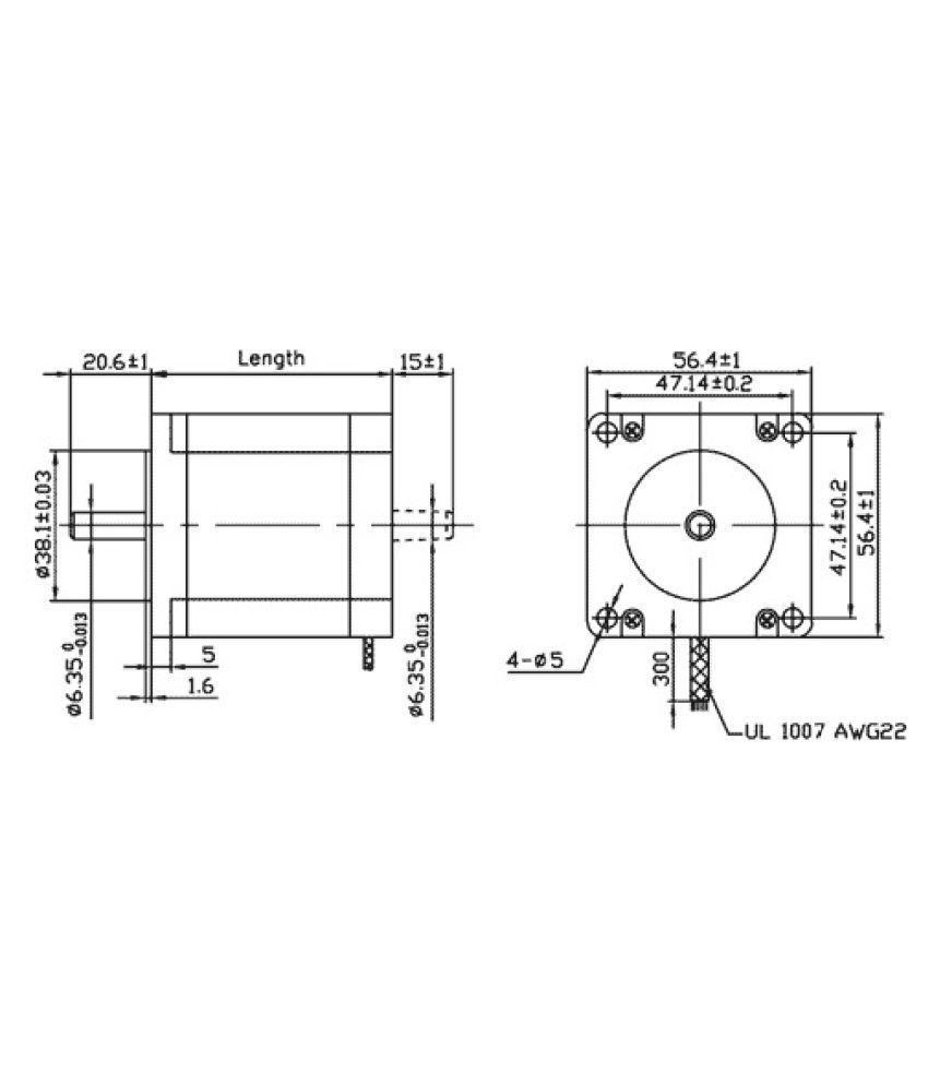 Robodo Stepper Motor Nema 23 101 Kg Cm Bipolar Hybrid Buy Wiring Diagram