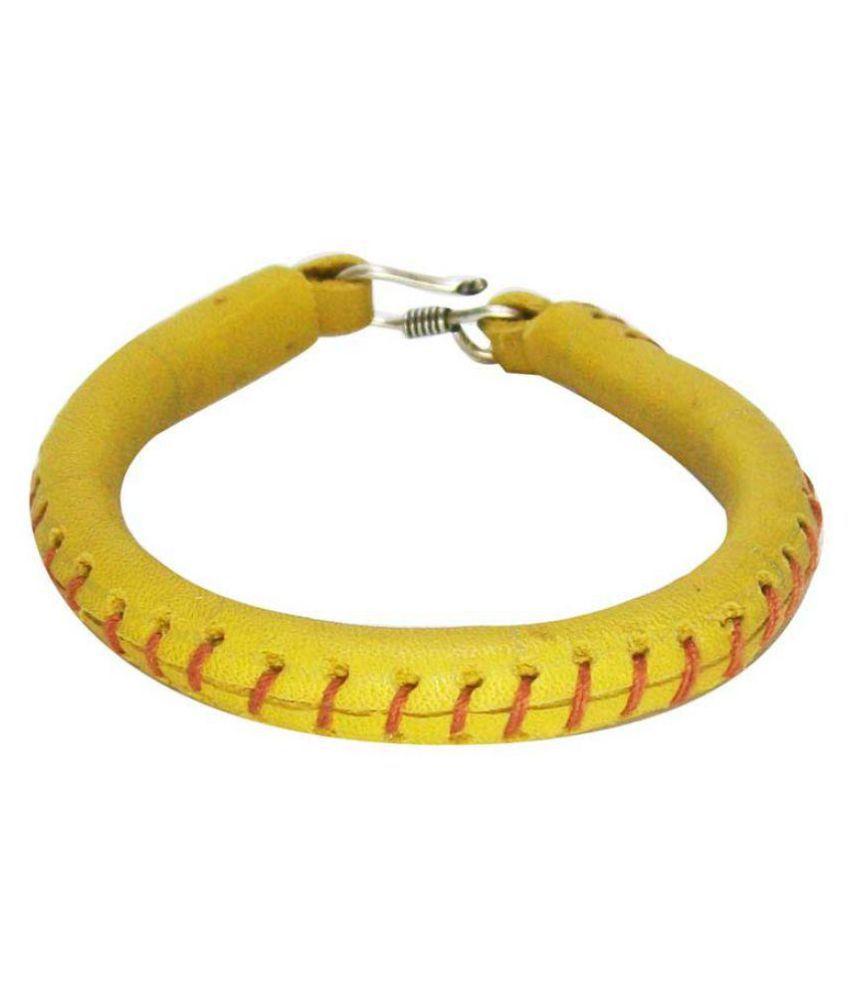 Sakhi Styles Leather Handwork Bracelet For Men