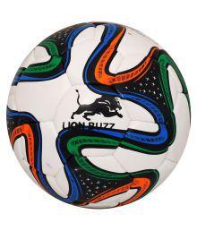 Lion Buzz Brazuca White Football Size- 5