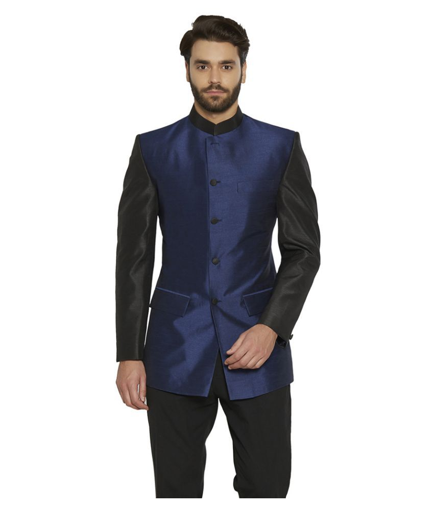 Irin Blue Color Block festive Tuxedo