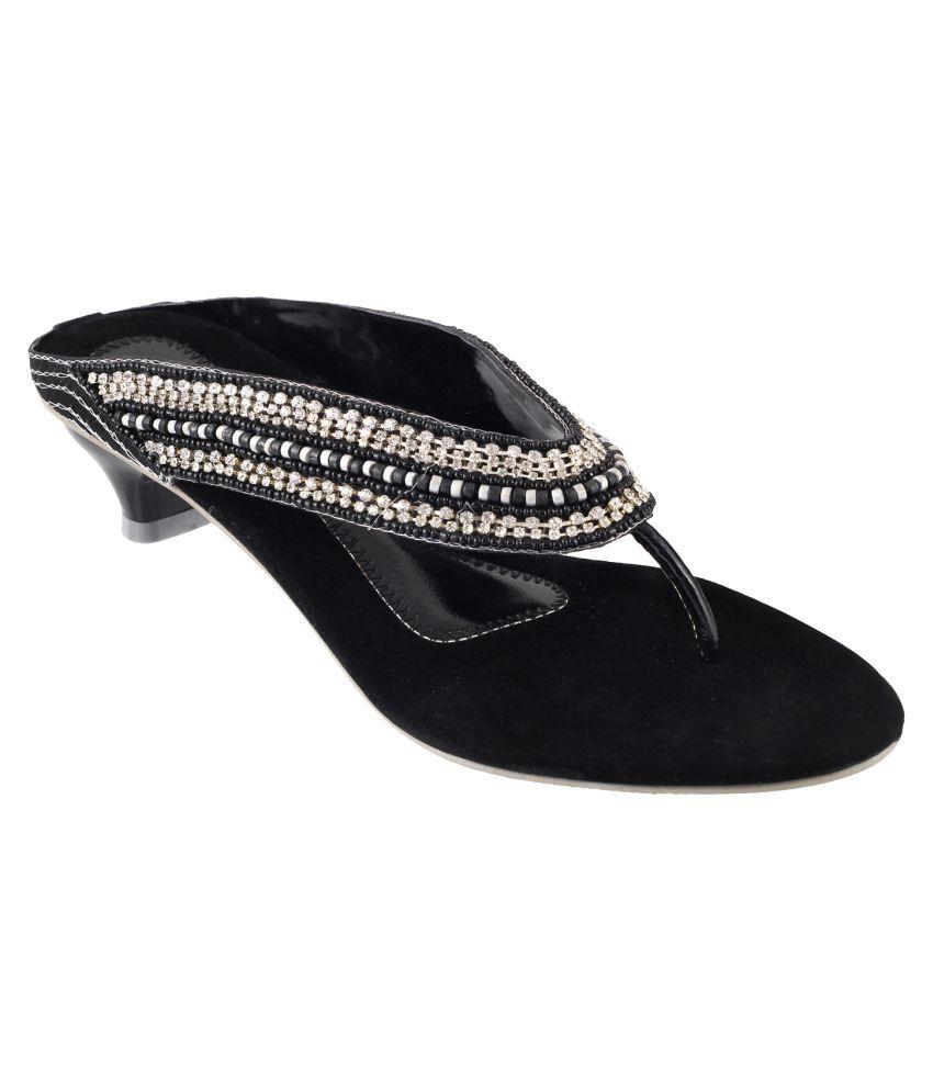 Mochi BLACK Kitten Heels