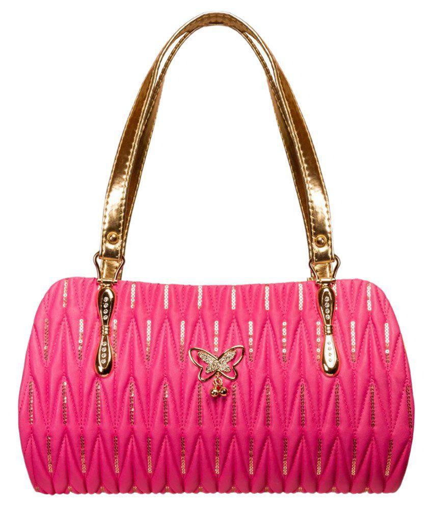 Louise Belgium Pink Faux Leather Shoulder Bag