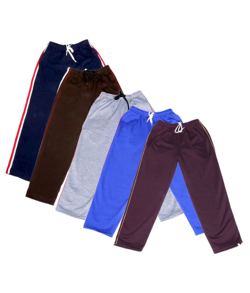 IndiWeaves Girls Premium 2 Cotton and 3 Warm Wollen Lower(Pack of 5)