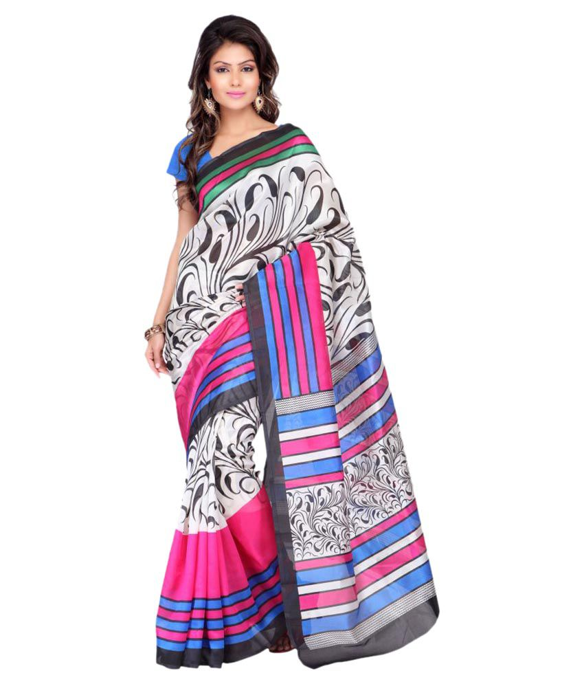 Adah Fashions Multicoloured Georgette Saree