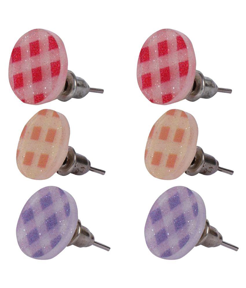 Dhamigo Stud Earrings - Pack of 3