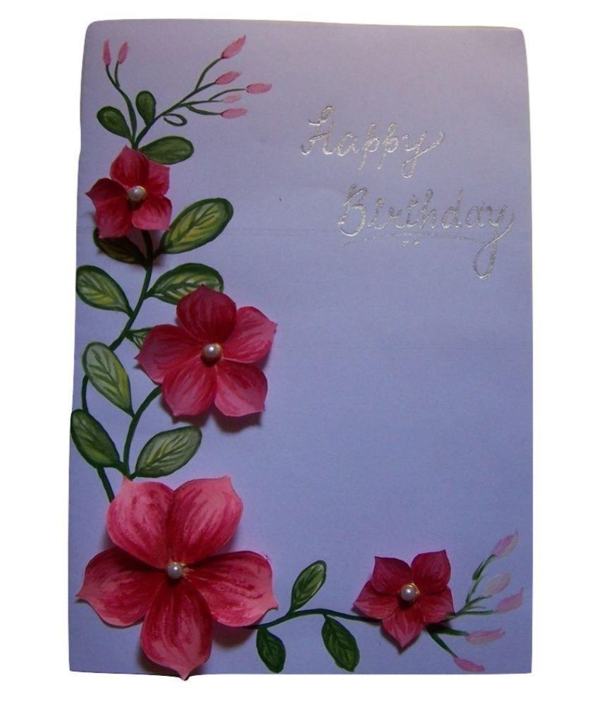 ISS Handmade Hand Painted Birthday Greeting Card Buy Online At Best Price In India