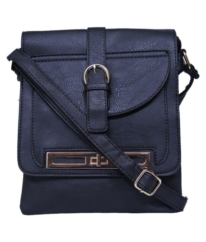 Sandy Winds Black Non Leather Sling Bag