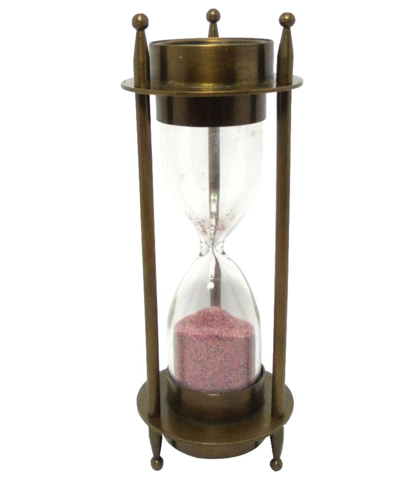 asian nautical store 3 minutes sand timer with compass on top and