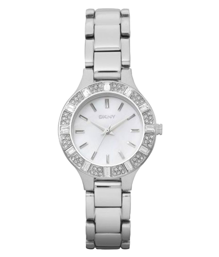 Dkny Ny8485 Silver Round Analog Watch For Women By Snapdeal @ Rs.2,239