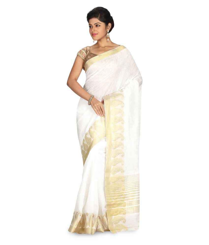 Radcart Off White Kanchipuram Saree