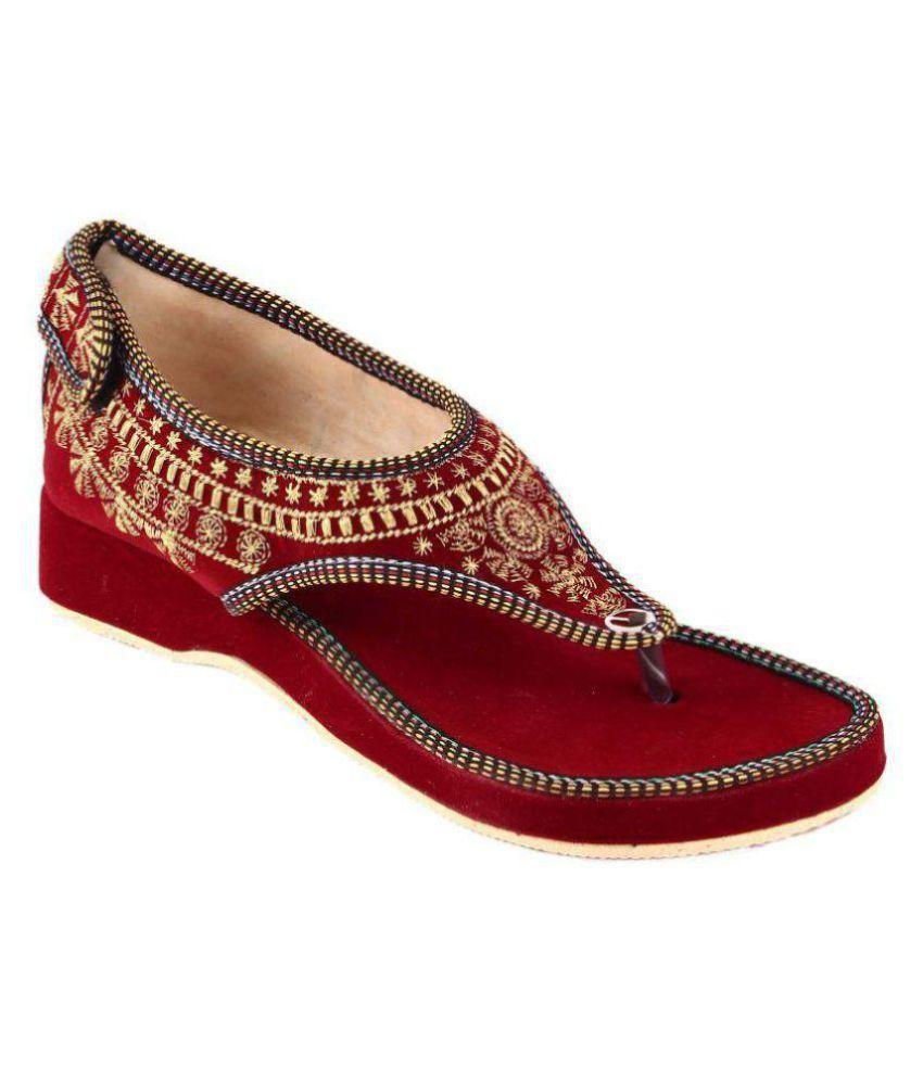 Skylyf Red Flat Heels