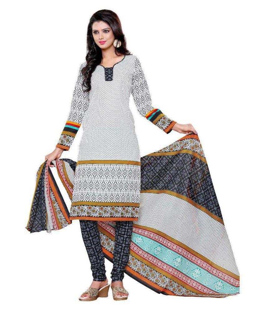 Shree Ganesh Multicoloured Cotton Dress Material