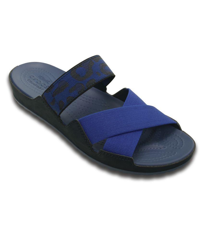 Crocs Blue Flat Slip-on & Sandal Relaxed Fit