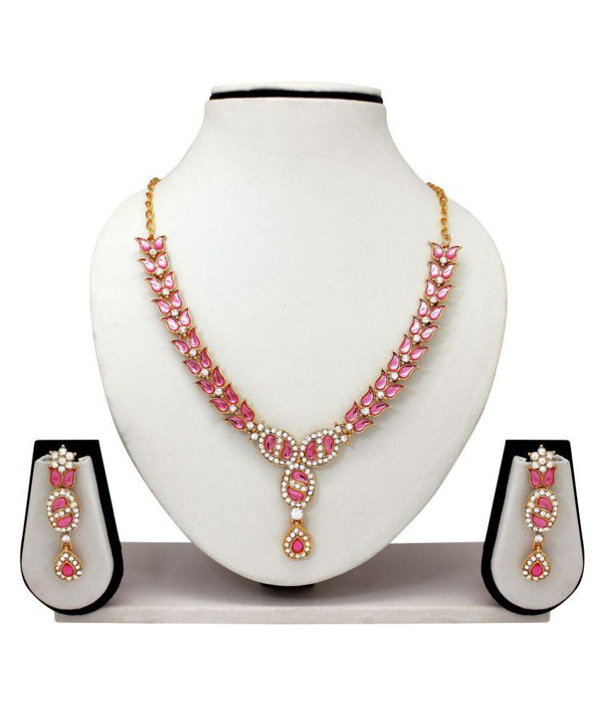 Atasi International Pink Necklace Set