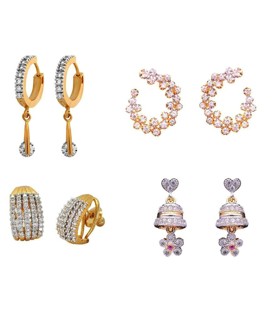 1fc647445 Sitashi Artificial Jewellery Earrings Combo (Pack of 4) - Buy Sitashi Artificial  Jewellery Earrings Combo (Pack of 4) Online at Best Prices in India on ...