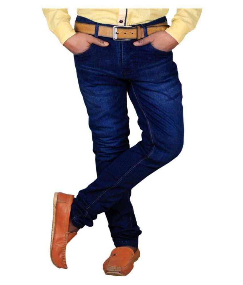 L,Zard Blue Straight Jeans