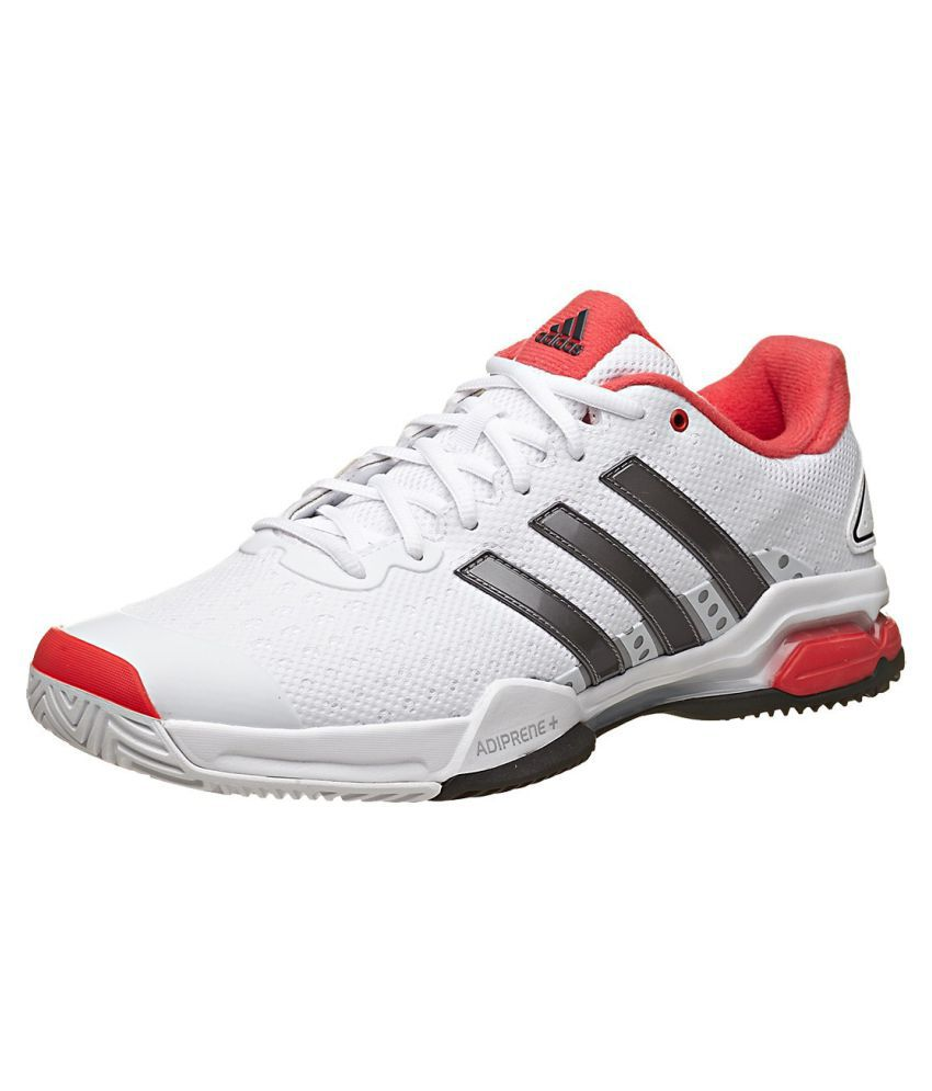 221f84b32ee Adidas Barricade Team 4 White Male Non-Marking Shoes - Buy Adidas Barricade  Team 4 White Male Non-Marking Shoes Online at Best Prices in India on  Snapdeal