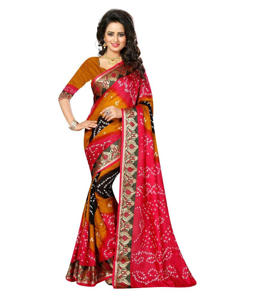 Kreta Fab Tex Multicoloured Cotton Silk Saree