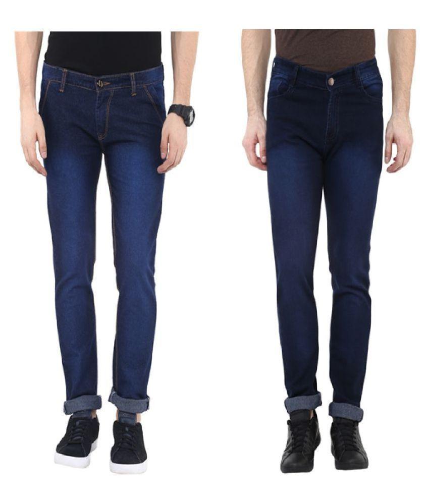 Urbano Fashion Dark Blue Slim Jeans