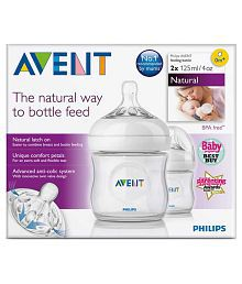 Philips Avent Transparent Feeding Bottle - Pack Of 2