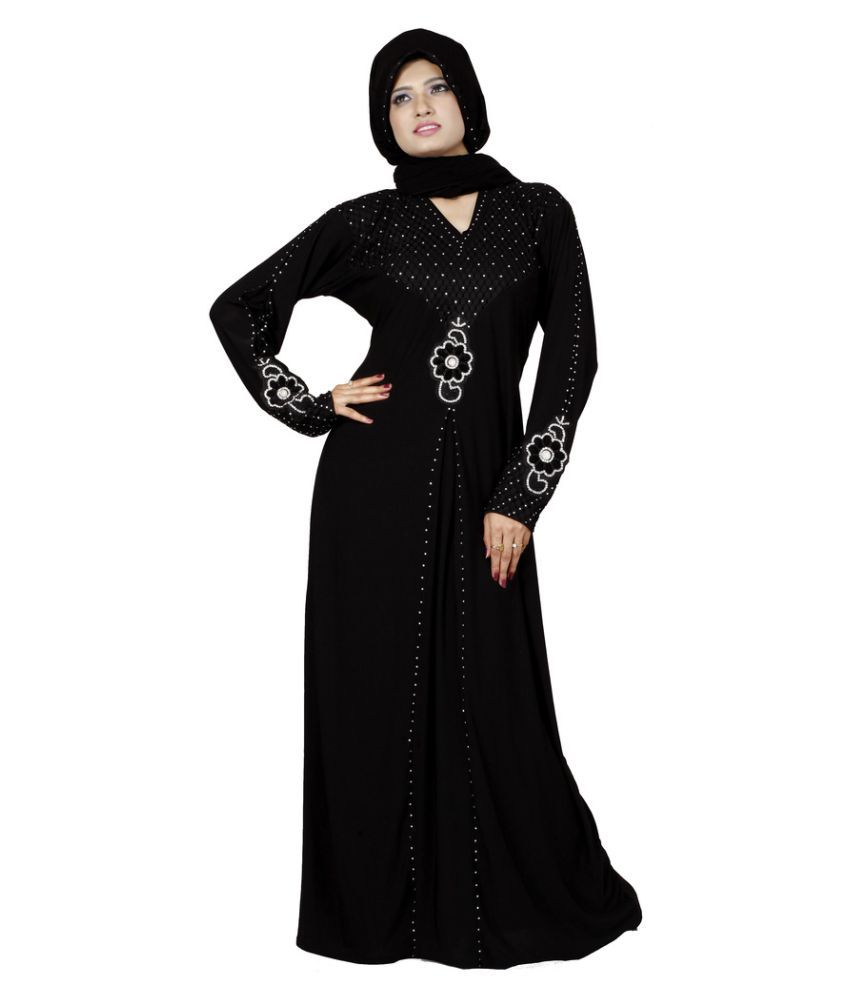 8b03462feb1f Viva N Diva Black Polyester Stitched Burqas with Hijab Price in India - Buy  Viva N Diva Black Polyester Stitched Burqas with Hijab Online at Snapdeal
