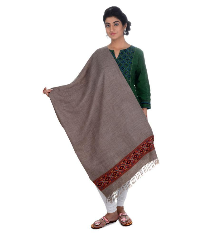 Tribes India Grey Woven Shawl