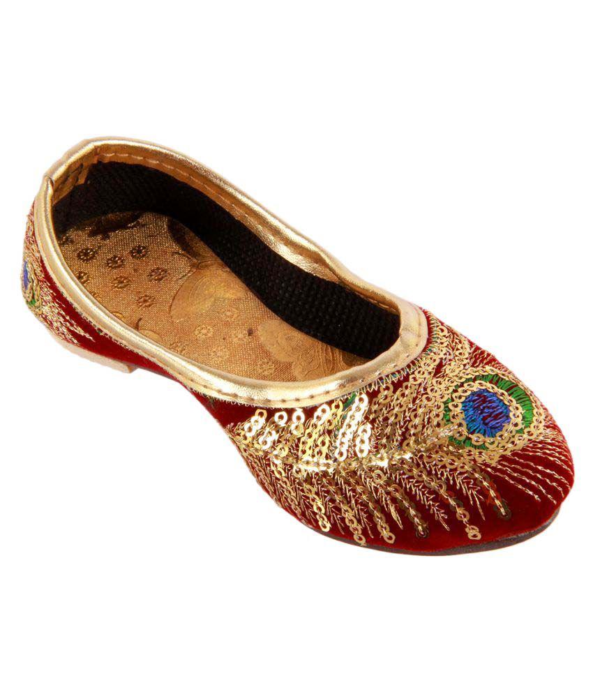 Buy Khussa Red Juti For Girls Online