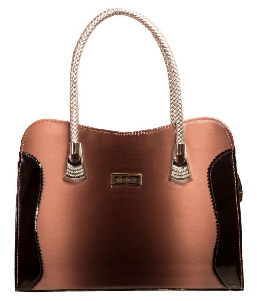 Louise Belgium Golden Brown Faux Leather Handheld